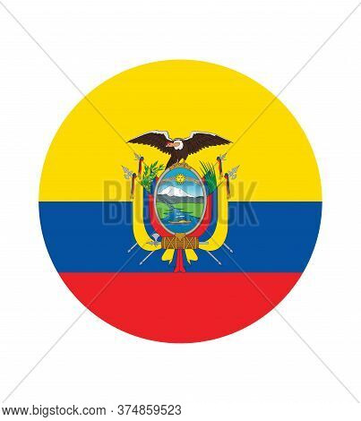 National Ecuador Flag, Official Colors And Proportion Correctly. National Ecuador Flag.
