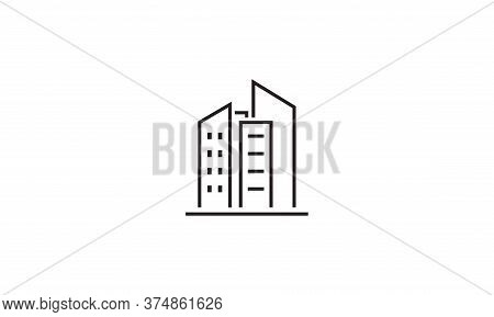 Building Icon Vector. Building Sign On White Background. Building Icon For Web And App