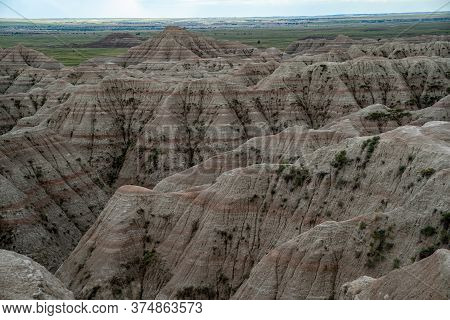 The White River Valley Overlook In Badlands National Park In South Dakota Usa