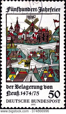 02 08 2020 Divnoe Stavropol Territory Russia The Germany Postage Stamp 1975 The 500th Anniversary Of