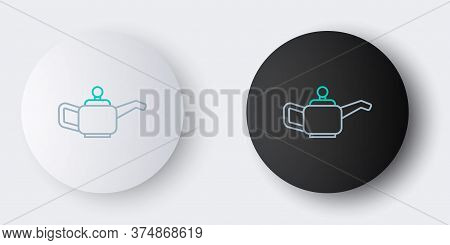 Line Canister For Motor Machine Oil Icon Isolated On Grey Background. Oil Gallon. Oil Change Service