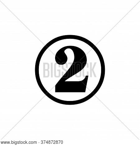 Number 2 Icon Simple Vector Sign And Modern Symbol. Number 2 Vector Icon Illustration, Editable Stro