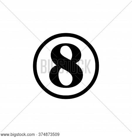 Number 8 Icon Simple Vector Sign And Modern Symbol. Number 8 Vector Icon Illustration, Editable Stro