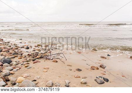 Stones On The Beach In Jastrzebia Gora (poland)