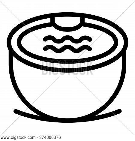 Round Bathtub Icon. Outline Round Bathtub Vector Icon For Web Design Isolated On White Background