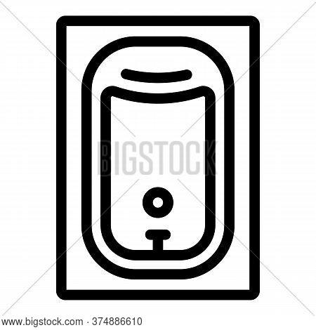 Rectangle Bathtub Icon. Outline Rectangle Bathtub Vector Icon For Web Design Isolated On White Backg