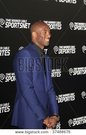 LOS ANGELES - OCT 30:  Kobe Bryant arrives at the Time Warner Sports Launch of TWC Sportsnet at TWC Sports Studios on October 30, 2012 in El Segundo, CA