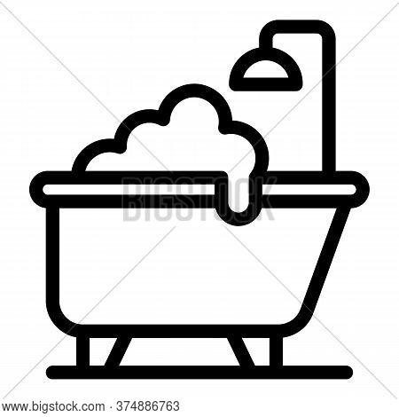 Hygienic Bathtub Icon. Outline Hygienic Bathtub Vector Icon For Web Design Isolated On White Backgro