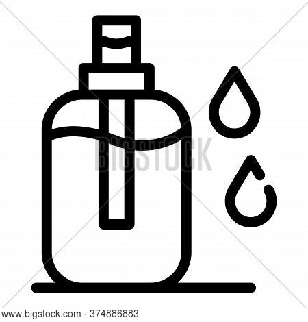 Liquid Antiseptic Icon. Outline Liquid Antiseptic Vector Icon For Web Design Isolated On White Backg