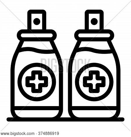 Medical Antiseptic Icon. Outline Medical Antiseptic Vector Icon For Web Design Isolated On White Bac