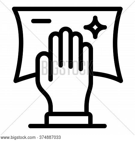 Clear Hand Icon. Outline Clear Hand Vector Icon For Web Design Isolated On White Background