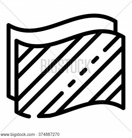 Insulation Material Icon. Outline Insulation Material Vector Icon For Web Design Isolated On White B