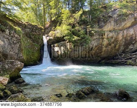 The Upper Waterfall Giessenfall (der Obere Giessenfall Oder Ober Giessenfall Waterfall) On The Thur