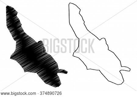 Shiraz City (islamic Republic Of Iran, Persia, Fars Province) Map Vector Illustration, Scribble Sket