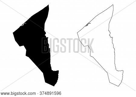 Tutong District (nation Of Brunei, The Abode Of Peace, Borneo Island) Map Vector Illustration, Scrib
