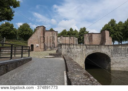 The Western City Gate Of The Fortified City Of Hulst In The Netherlands Also Known As The Keldermans