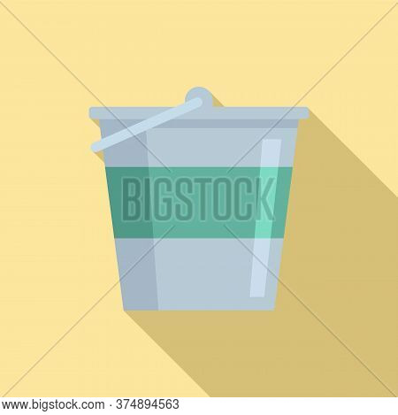 Reconstruction Metal Bucket Icon. Flat Illustration Of Reconstruction Metal Bucket Vector Icon For W
