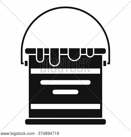 Reconstruction Paint Bucket Icon. Simple Illustration Of Reconstruction Paint Bucket Vector Icon For