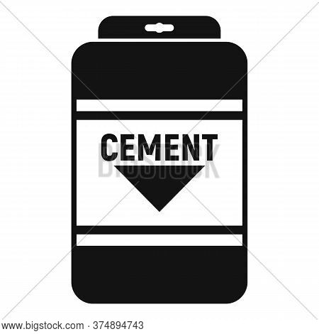 Cement Sack Icon. Simple Illustration Of Cement Sack Vector Icon For Web Design Isolated On White Ba