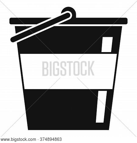 Reconstruction Metal Bucket Icon. Simple Illustration Of Reconstruction Metal Bucket Vector Icon For