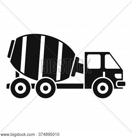 Cement Mixer Truck Icon. Simple Illustration Of Cement Mixer Truck Vector Icon For Web Design Isolat