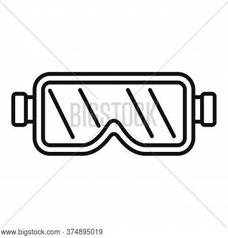 Construction Protect Glasses Icon. Outline Construction Protect Glasses Vector Icon For Web Design I