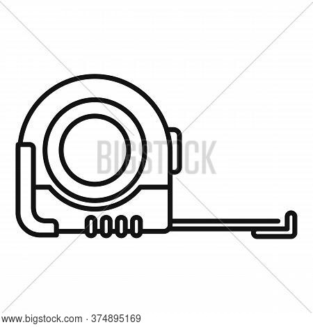 Measurement Tape Icon. Outline Measurement Tape Vector Icon For Web Design Isolated On White Backgro