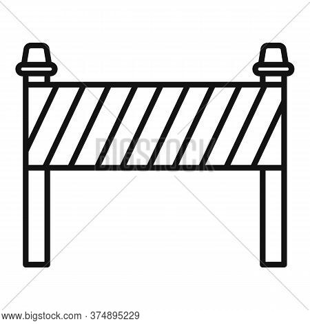 Road Construction Barrier Icon. Outline Road Construction Barrier Vector Icon For Web Design Isolate