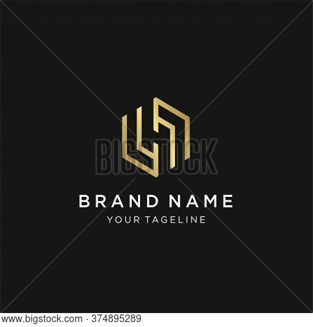 Letter H Monogram Logo Template Inspiration, Letter H Logo Icon Design Template Elements