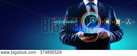 Assessment Evaluation Business Analysis Concept On Screen.