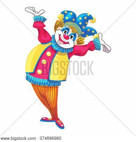 Happy Clown Icon. Cartoon Of Happy Clown Vector Icon For Web Design Isolated On White Background