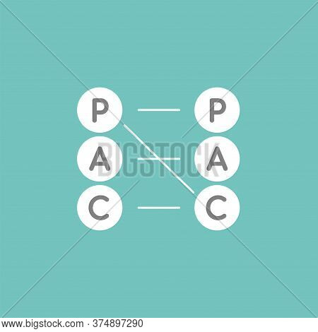 Transactional Analysis Vector Pictogram. Intellect Interface. The Ego-states: Parent, Adult, Child I