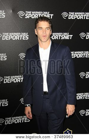LOS ANGELES - OCT 30:  Luc Robitaille arrives at the Time Warner Sports Launch of TWC Sportsnet at TWC Sports Studios on October 30, 2012 in El Segundo, CA