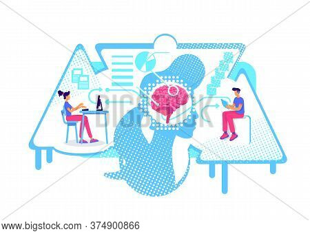 Analysis And Systematization Of Information Flat Concept Vector Illustration. Human Information Proc