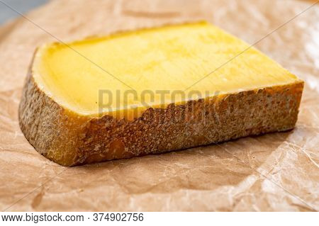 French Cheese Comte Fruity Flavoured Fruite Or Vieille Reserve Close Up