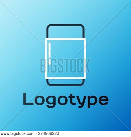 Line Eraser Or Rubber Icon Isolated On Blue Background. Colorful Outline Concept. Vector Illustratio