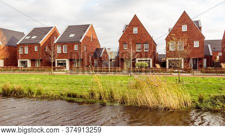 Modern Family Houses In A Modern Subsurb The Netherlands