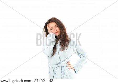 Tired Again. Hard Morning. Girl Sleepy Face. Insomnia Effects. Sleepy Woman Sleep Disorders. Drowsy
