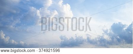 Blue Sky And White Clouds Background For Mindfulness And Peace