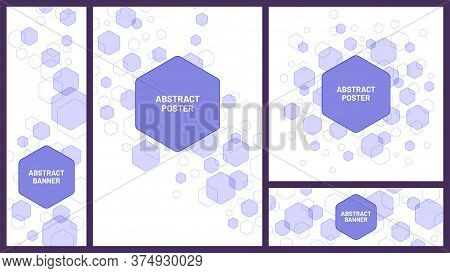 Abstract Hexagonal Structure Banner. Hexagons Structure Poster Graphic Design, Hexagon Frame Vector