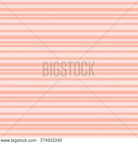 Pink Horizontal Stripes Pattern. Simple Vector Seamless Texture With Thin Straight Lines. Modern Abs