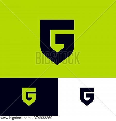 Letter G Like A Shield. G Monogram. Emblem Of Antivirus Or Protection System. The Minimalist Style.