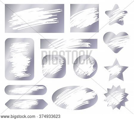 Scratch Card. Vector Texture. Scratch Card Effect For Lottery Ticket, Template Gambling Award Promot