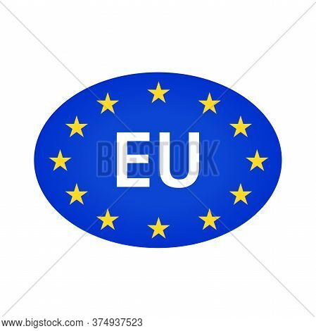 Eu. European Union Logo Symbol. Flat Illustration Of European Union Vector Flag.