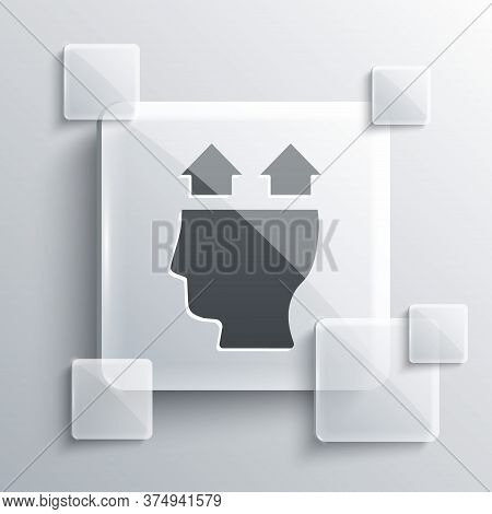 Grey User Of Man Icon Isolated On Grey Background. Business Avatar Symbol User Profile Icon. Male Us