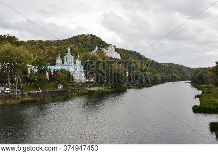 Svyatogorsk, Svyatogorsk Lavra Of The Holy Dormition, Ukraine-june 2020, A Monastery In The Chalk Mo