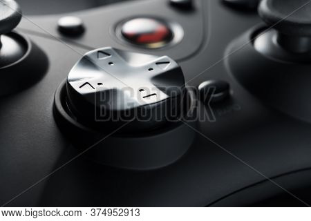The Arrow Buttons Of A Black Game Controller. Game Development. Retro Video Games. Game Consoles. Ru