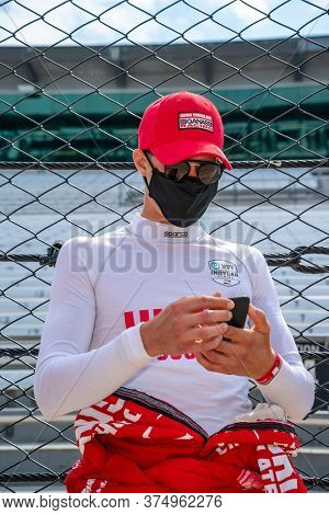 July 03, 2020 - Indianapolis, Indiana, USA: MARCUS ERICSSON (8) of Kumla, Sweden  prepares to practice for the GMR Grand Prix at the Indianapolis Motor Speedway in Indianapolis, Indiana.