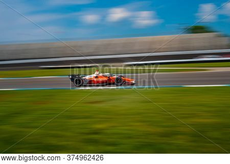 July 03, 2020 - Indianapolis, Indiana, USA: JAMES HINCHCLIFFE (29) of Toronto, Canada practices for the GMR Grand Prix at the Indianapolis Motor Speedway in Indianapolis, Indiana.