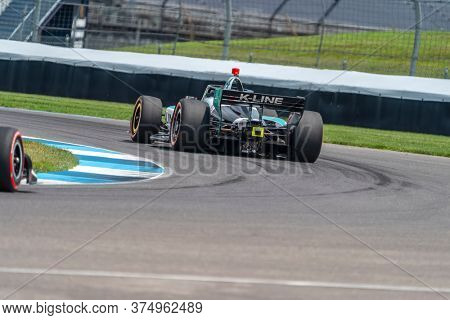 July 03, 2020 - Indianapolis, Indiana, USA: DALTON KELLETT (R) (14) of Stouffville, Canada practices for the GMR Grand Prix at the Indianapolis Motor Speedway in Indianapolis, Indiana.